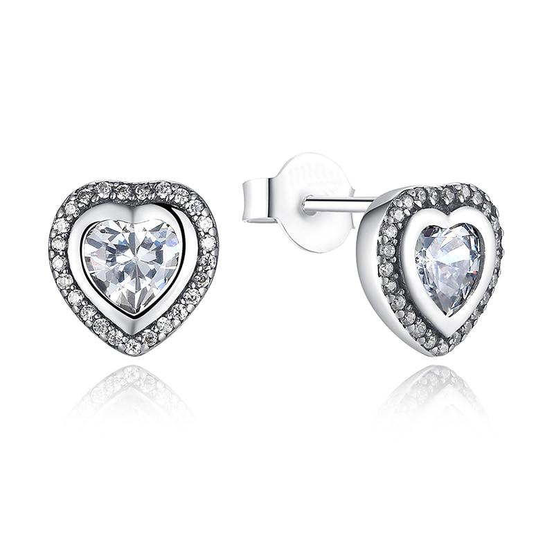 100% Authentic 925 Sterling Silver Poetic Mind Clear CZ Mickey Swarovski  Crystal Earrings Fit pan jewelery Women Earring-in Earrings from Jewelry ... 82621bc5faf9