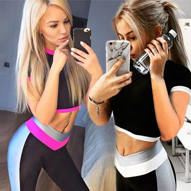 2 Piece Women Tracksuit Fitness Yoga Set