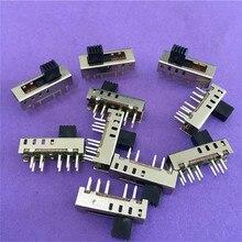 10 шт., вертикальные направляющие переключатели ST091Y, 10 контактов, 4 положения, тумблер, фонарик, 2P4T, DP4T, постоянный ток 50 в 0,5a