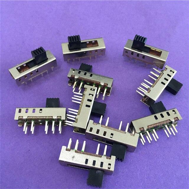 10 قطعة ST091Y SS24E01 G5 الشريحة مفاتيح العمودي 10 دبوس 4 الموقع التبديل تبديل المصباح 2P4T DP4T dc 50 فولت 0.5a على بيع