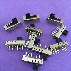 Image 1 - 10PC ST091Y SS24E01 G5 Slide Switches Vertical 10 Pin 4 Position Toggle Switch Flashlight Switch 2P4T DP4T DC 50V 0.5A On Sale