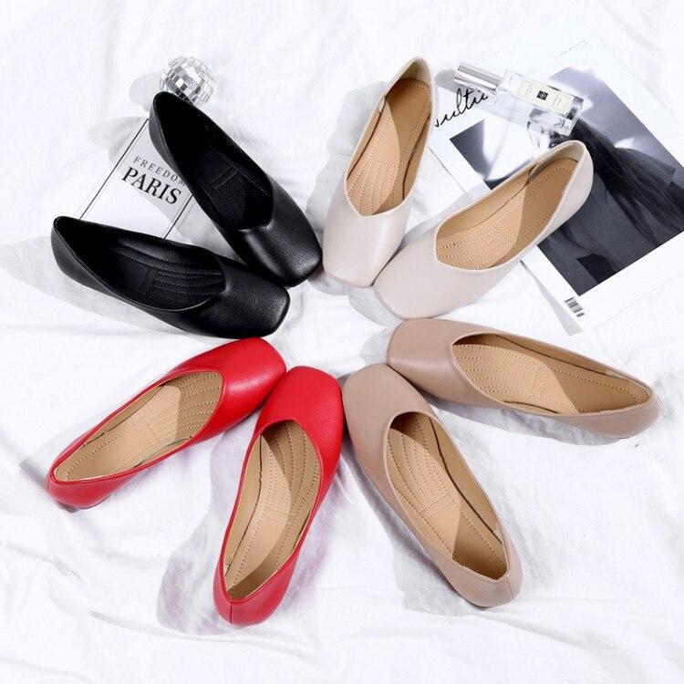 rouge Peu Profonde 2018 Beige Roll kaki Plat Ballerines Chaussures Femmes Les Enceintes noir Avec Pois De Mère Bouche Egg Tête CUSpwqU