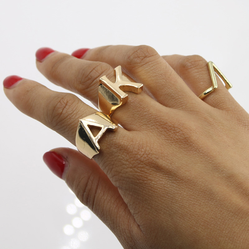 korean fashionable designs product of top rings provide not original sale professional three high stainless fashion design fade originality quality color steel variety style simple ring arrow two nails can new