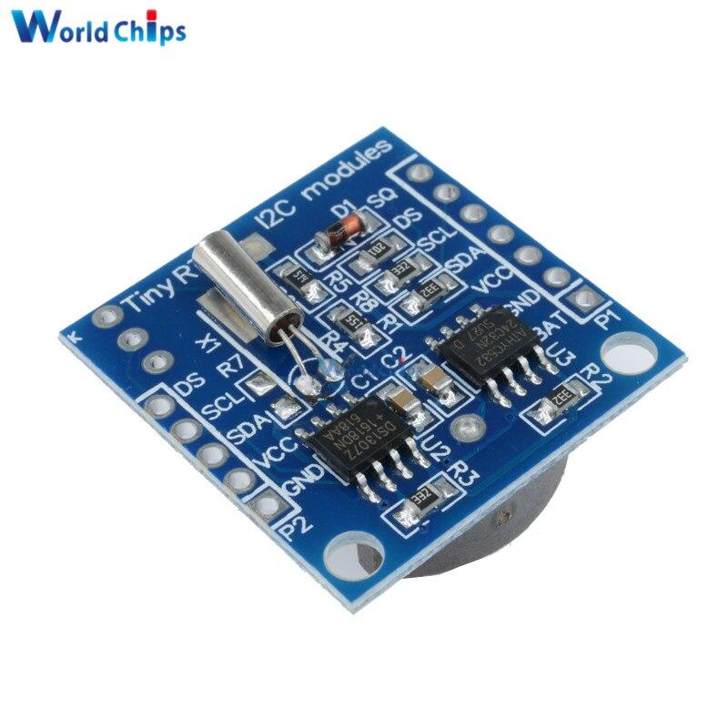 DS18B20 Temperature Sensor+I2C RTC DS1307 AT24C32 Real Time Clock Arduino Module