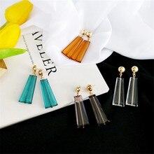 2018 Geometry/Triangle/Fashion Japanese Pop Earrings Acrylic Transparent Personality Temperament Korean Simple Earrings Female