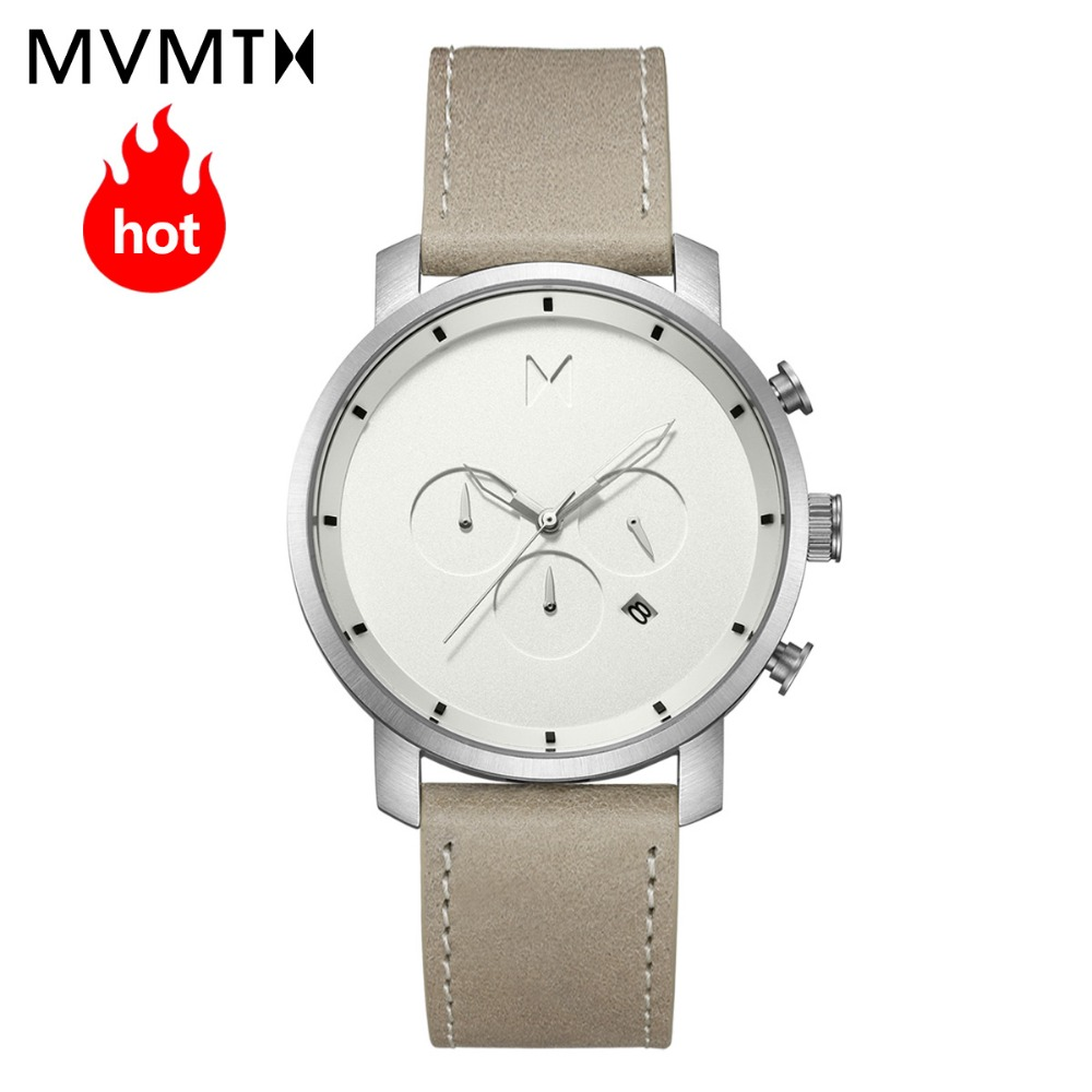 MVMT watch | Official flagship store fashion European and American style men's Genuine watch with genuine leather watch 45mmdw xiejiaer flagship store 8502 xxxl no