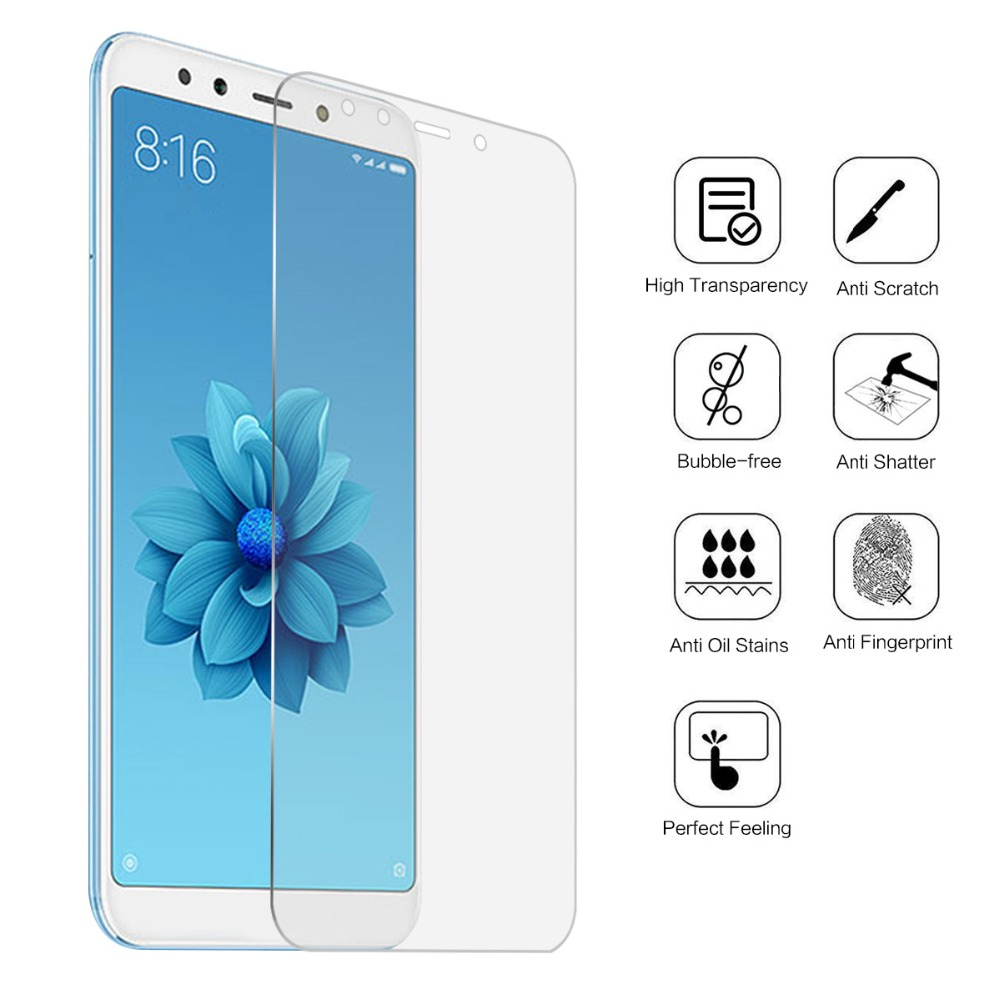 DHL 100PCS Tempered Glass Screen Protector Film For Xiaomi Mi A2/6X Screen Protector for Xiaomi Mi A2/6X