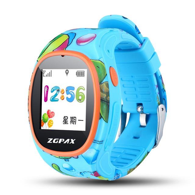Smartwatches ZAOYI * 2017 Z08 Crianças Crianças Suporte GPS Tracker LBS Anti-perdida Smartwatch Reloj Inteligente SOS Chamada Sim cartão PK