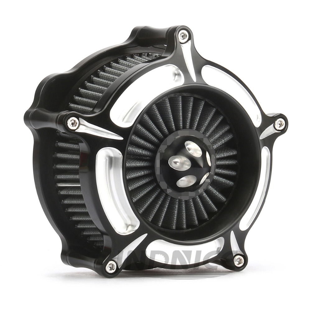 Motorcycle Turbine Spike For Harley Spike Air Cleaner Intake Filter for Sportster XL 883 1200 48 72 1991-2018 цена