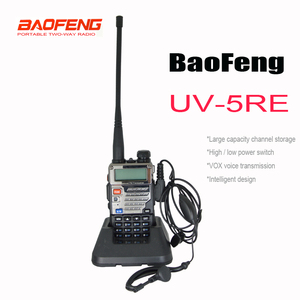 New Black color BaoFeng UV-5RE Walkie Talkie UV 5RE Two Way Radio with Free Earphone UV5RE Radio 136-174MHz&400-520 MHz