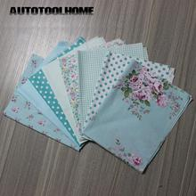 8 PCS 40cmx50cm Victoria Patch set flower Printed cotton fabric for quilting patchwork Patches