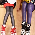 2017 Girls Europe Style Pearly Leather Leggings New Arrival Spring Autumn Solid Trousers Children Shinning Pants Big Girls Pants