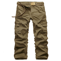 Cargo Pants Men New Arrival Cotton Overalls Military Green Men's Trousers Leisure Pants 8 Pockets Streetwear