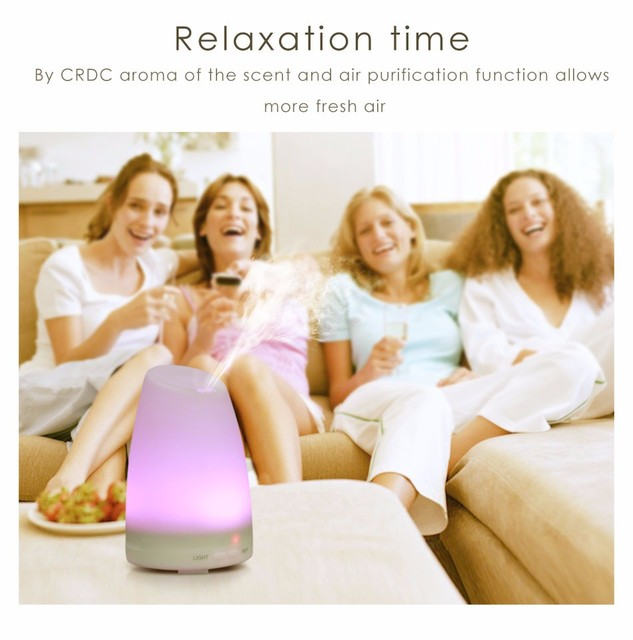 New Ultrasonic Car Air Aroma Humidifier With Changing 7 Color LED Lights Electric Aromatherapy Essential Oil Aroma Diffuser