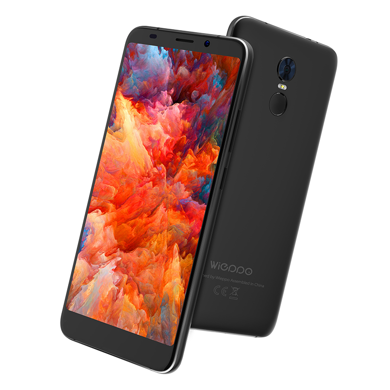 "WIEPPO S8 4G Mobile Phone 5.7"" HD+ MTK6737 Quad Core Android 7.0 2GB RAM 16GB ROM Fingerprint 13MP Dual Camera Cellphone"