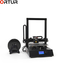 3D Printer Diy Semi Assembly Kit Ortur4 Machine with 0.4MM Extruder Resume Print Filament End Sensor Auto Leveling