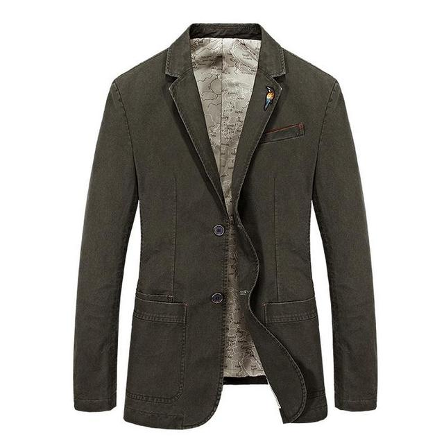 New Style  men  Blazer men's cotton suit Jacket Men's classic blazer for male coats plus size S-XXXXL