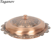 round 304 Stainless steel plated plate with cover dessert candy Dishes Special Chinese food Snacks dish flat bottomed tray gifts