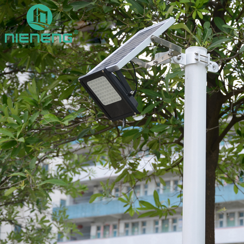 Nieneng Solar Flood Light Outdoor 56 LED Flexible Waterproof Security Landscape lights with Remote Control Solar Lamps ICD90037