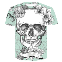 Skull 2019 new Big yards New Fashion Brand T-shirt Men/Women Summer 3d Tshirt Print skulls Hip Hop T shirt Male Shirt Tops Tee