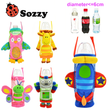 5 styles Sozzy Brand Children Water Bottle Handle Bags Cartoon Feeder Lagging Baby Bottle Huggers For