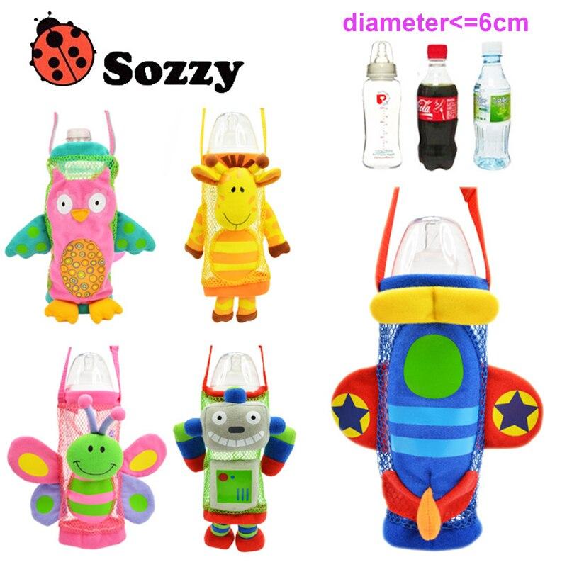 5 styles Sozzy Brand Children Water Bottle Handle Bags Cartoon Feeder Lagging Baby Bottle Huggers For 3M-15T