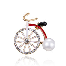 96d32c815bd Rinhoo Rhinestone Bicycle Brooches for Women and Kids Cute Creative Carton  Style Brooch Pin Fashion Jewelry T-shirt Pins