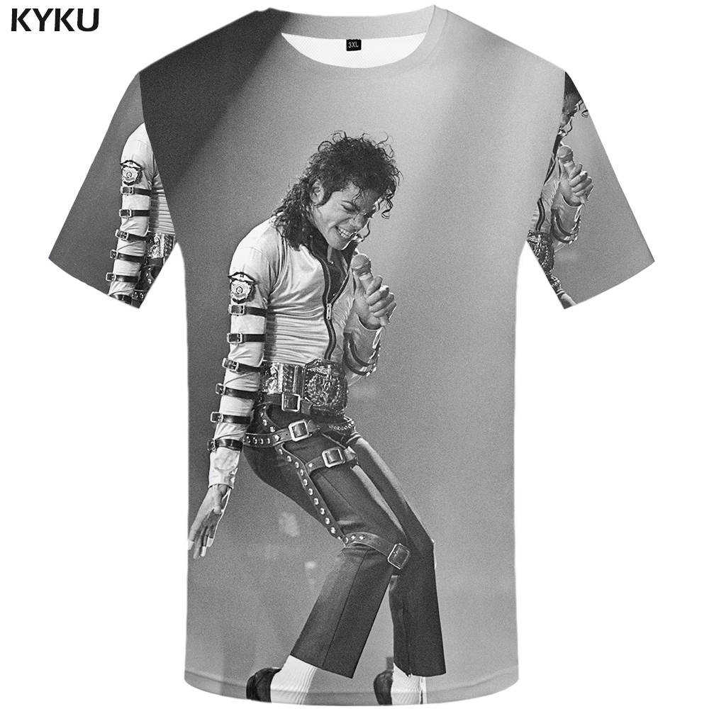 Detail Feedback Questions about KYKU Michael Jackson T shirt Dance Clothes  Shirts Tees Clothing Tshirt Men Funny 2017 Hip hop Casual Summer on ... d23bfee4ff37