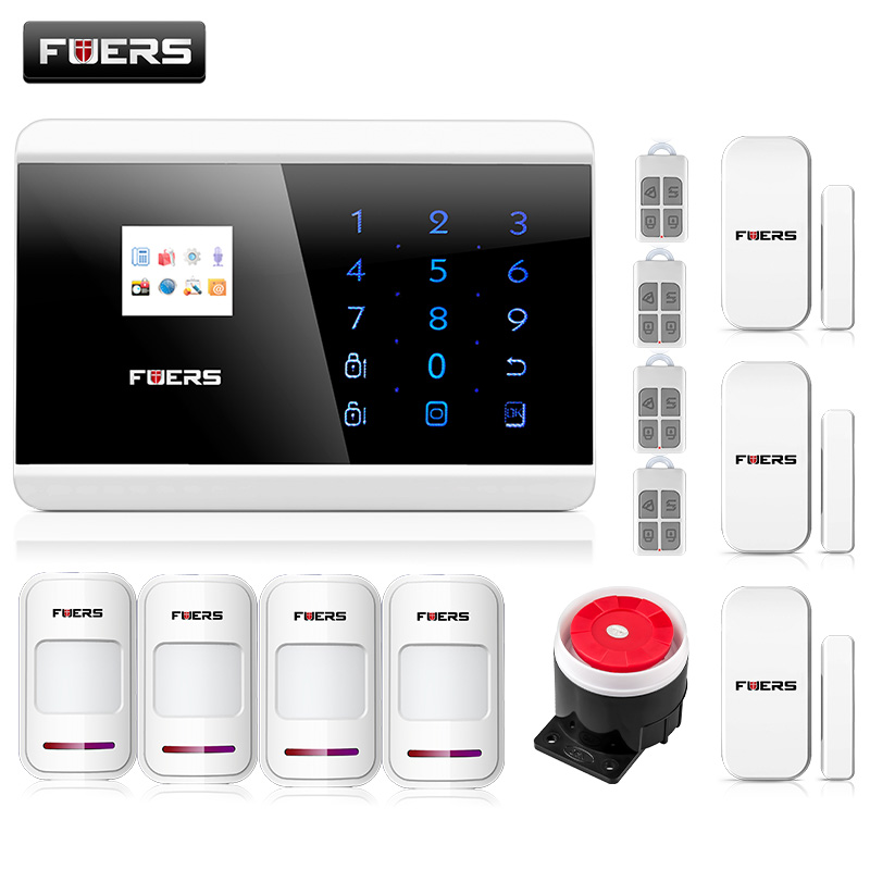Smart Quad Band LCD Touch Keypad Panel Wireless PSTN Voice Prompt Burglar Alarm GSM Android IOS APP Remote Alarm Security System ios android app lcd smart touch keypad wireless wired gsm pstn quad4 band sms home security voice burglar alarm system auto dial