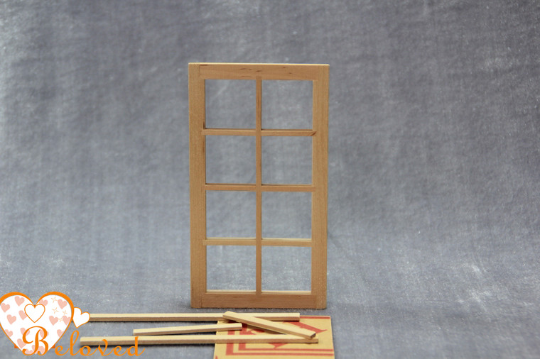 unfinished dollhouse furniture. online shop diy unfinished dollhouse miniature fairy french window with 8 panes wooden toys u0026 games 112 scale aliexpress mobile furniture