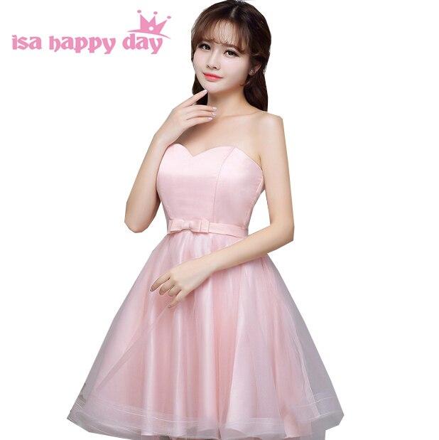 a83c32bc71 Ocasião especial curto rosa claro doce coração vestido de baile elegante na  altura do joelho strapless
