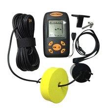 М 100-0,6 м Портативный Sonar lcd fish finder оборудование глубина рыбы Сигнализация Проводной детектор рыбы эхолот
