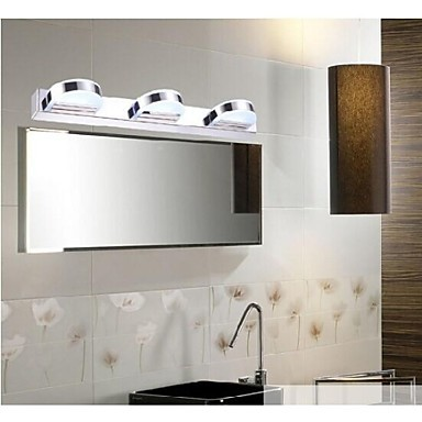 Stainless Steel Modern Led Bathroom Mirror Light ,LED Wall Lamp Wall Sconce Free Shipping modern led bathroom light stainless steel led mirror lamp dresser cabinet waterproof sconce indoor home wall lighting fixtures
