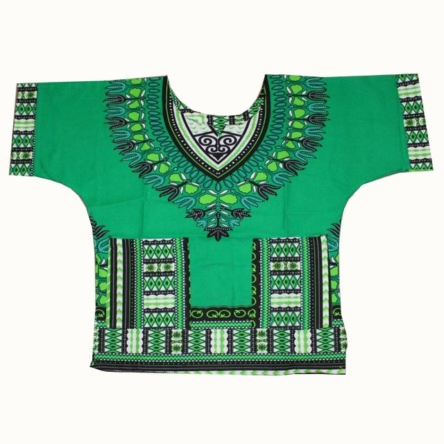 Wholesale Kids 2017 Child New Fashion Design Traditional African Clothing Print Dashiki T-shirt For Boys and Girls 3