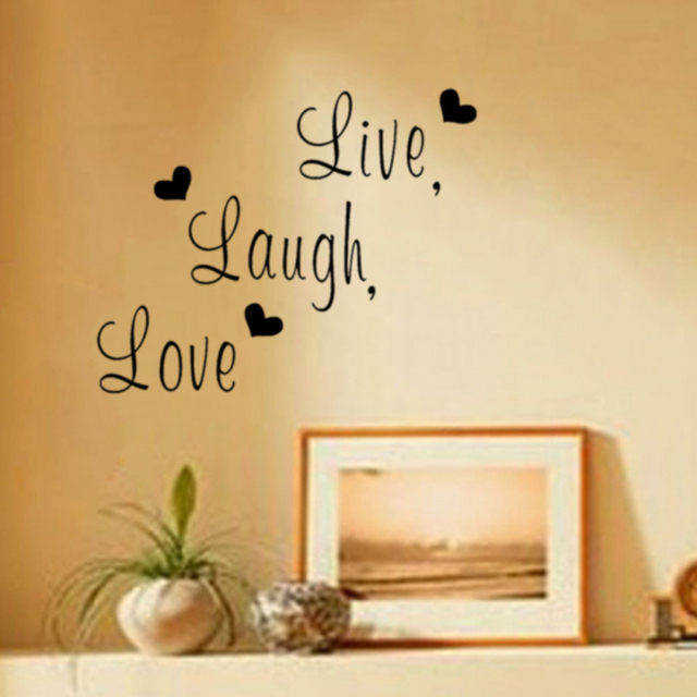 Live Laugh Love Letters Wall Stickers Home Decoration For Bedroom ...