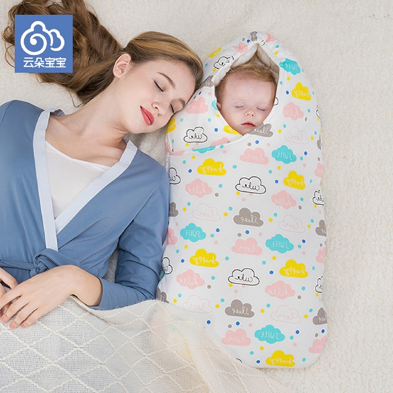 Envelop for newborn baby neonatal cocoon pure cotton for infant wrapped in winter stroller bag warm soft well done in details boy girl infant wrap envelop for newborns sleeping bag pure cotton printed with fawn patterns thicken in autum winter or sprin