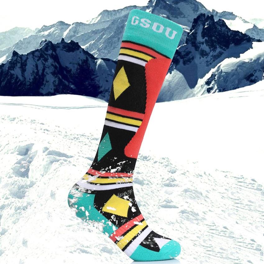GsouSnow Mens Women Winter Ski Stockings Warm Socks Outdoor Sports Hiking Camping Trekking Snowboard Skiing Cycling Socks MI011