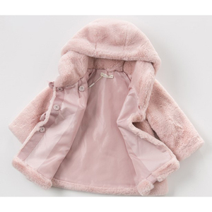 Image 3 - Baby Girls Winter Coat Kids Clothes Rabbit Fur Coat For Girls Jackets Baby Clothes Warm Parka Clothing For Girls Costume 1 6T