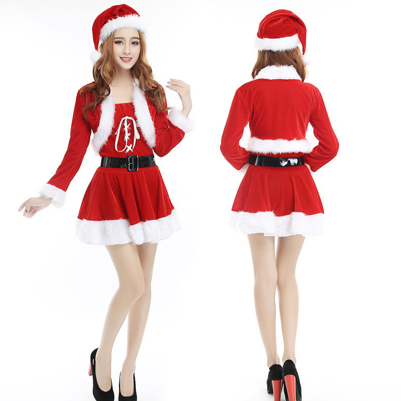 Christmas costumes adult men and women Santa Claus  Halloween performance costumes Christmas clothes  christmas elf