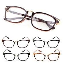 Sexy frames ladies retro glasses mens transparent lenses literary optical black