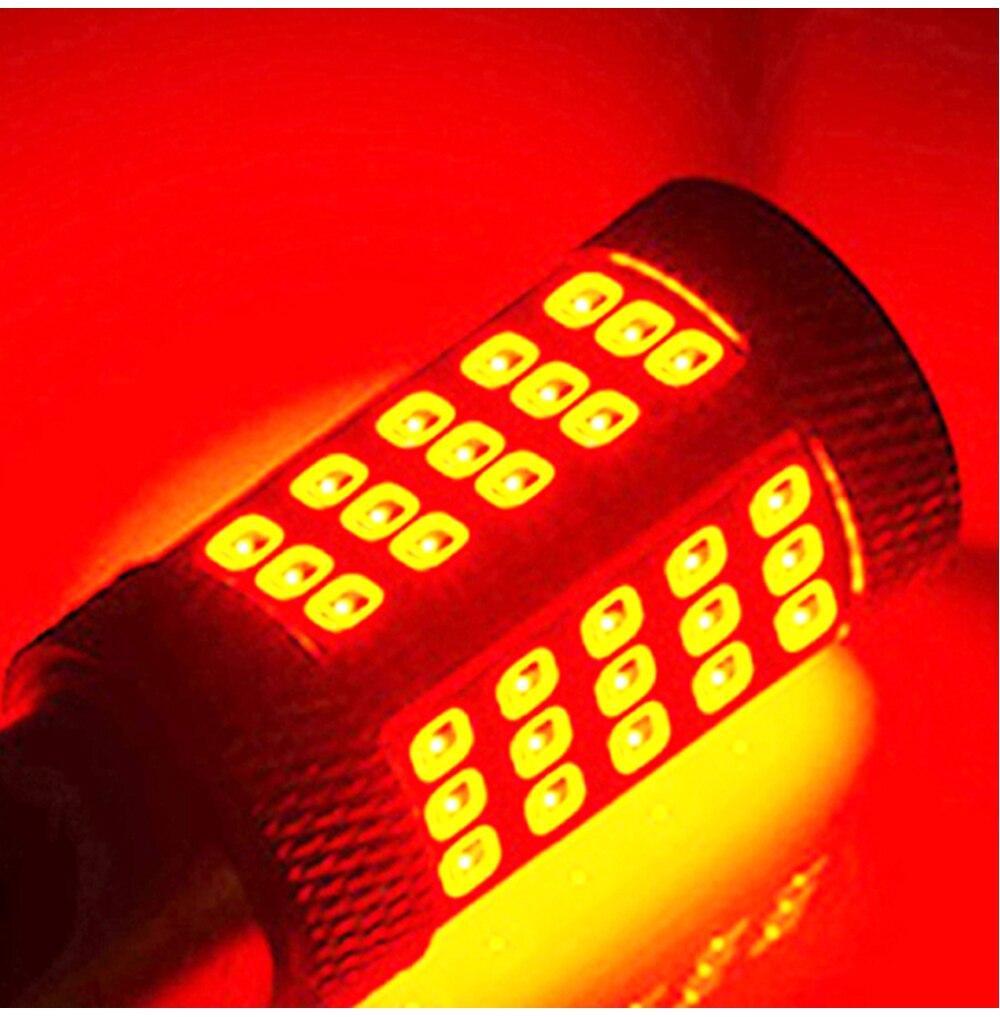 WTS 4pcs 1156 BA15S 66SMD P21W LED R5W Bulbs Car Driving Turn Signal Lights tail Backup Lamp Reverse Parking 6000K White Red9