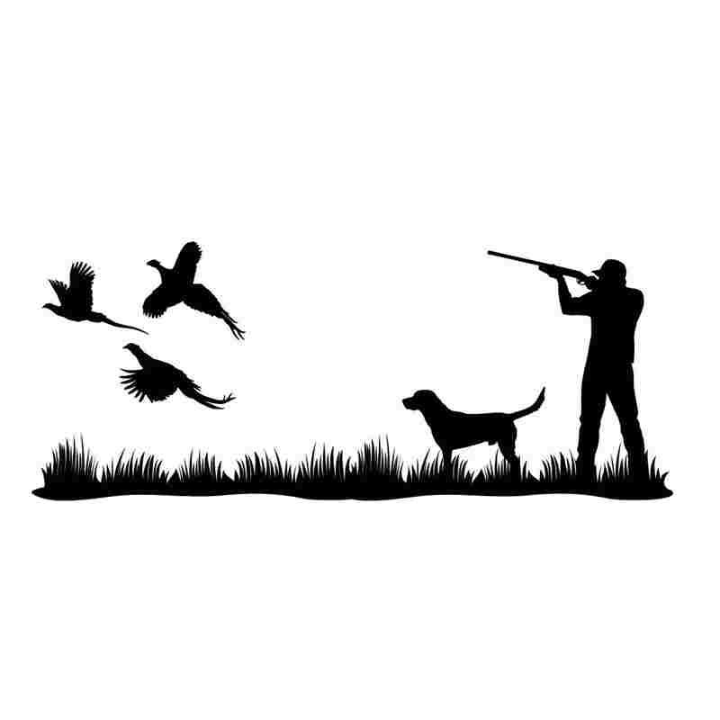 Bird dog hunting dog gun dog awesome car vinyl decal