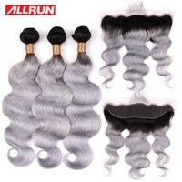 Похожие продукты предварительно Цветной T1b серый человеческие волосы с фронтальной бразильские волнистые волосы 3 Связки с 13*4 Кружева Закр