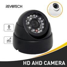 Áudio hd 720 p/1080 p led ir ahd câmera visão noturna 1.0mp/2.0mp câmera de segurança interior cctv dome sistema de vigilância por vídeo