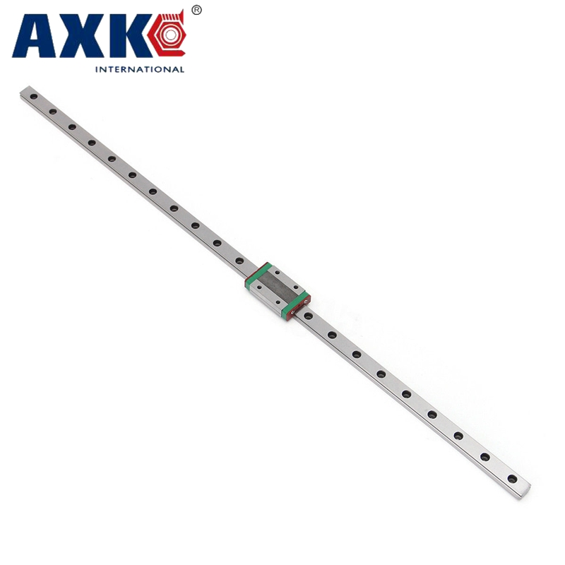 AXK 12mm linear rail guide 150MM-600MM MGN12 with mini MGN12C linear block carriage  linear motion guide way for cnc 3 Set