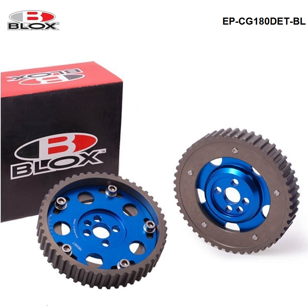 2pcs Adjustable Cam Gear Alloy Timing Gear For Nissan CA18DE(T) CA18DE Engine Inlet and Exhaust Cam Pullys Gears EP-CG180DET-BL