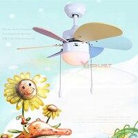 Современный простой вентилятор света для Обеденная ребенок Спальня 30 дюймов краткое ребенок светильник потолочный вентилятор
