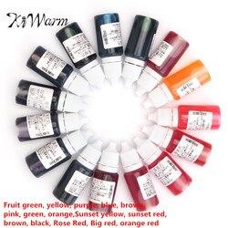 KiWarm Neueste 15 Stücke 10 ML Epoxidharz Pigment UV Harz Färben Farbstoff Farbstoff Harz Pigment DIY Handarbeit Handwerk Kunst Sets 15 Farben