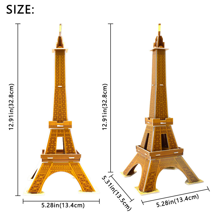 Christmas//Birthday for Adults /& Teens Assembly Toys Eiffel Tower Best DIY Toy Plextone Puzzle Box 3D Wooden Puzzle Model Kits