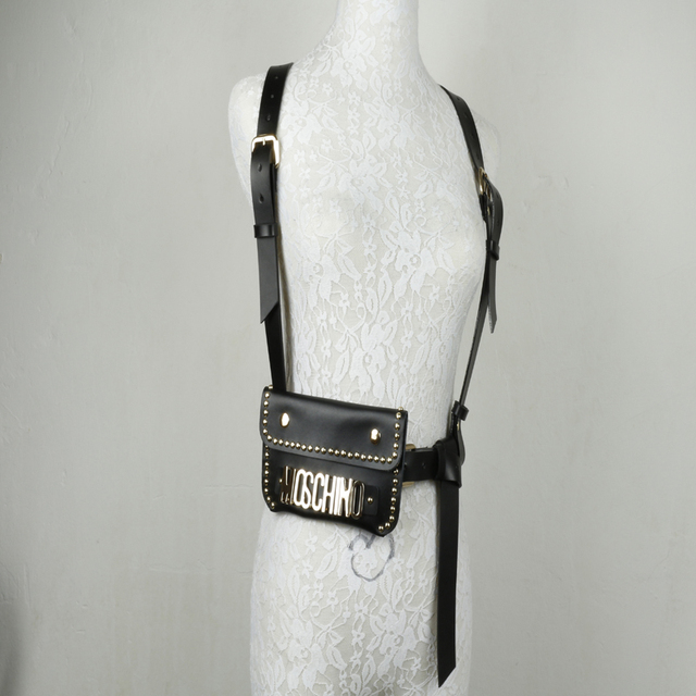 Harness, European and American original single Korean version trend club with a leather waist strap tied necessary Punk Bar
